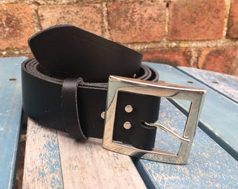 Leather Belt with Ben Buckle 1 1/2 inch (38mm) Choice of Colours Hand Made 100% Real Leather