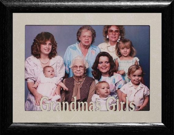 5x7 JUMBO ~ GRANDMA\'S GIRLS Photo Frame ~ Holds a 5x7 Photo ...