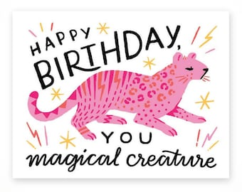 Happy Birthday, You Magical Creature  • single card