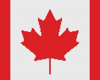 Cross Stitch Pattern, Cross Stitch Patterns, Cross Stitch, Counted Cross Stitch, Cross Stitch Chart, Xstitchpatterns, Canadian Flag Pattern