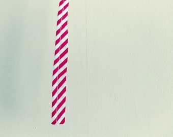 Red and White Striped Candy Cane Piping Trim, 3.5 Yards, for Craft and Decor, New Old Stock, NOS