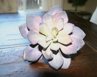 "Faux Succulent Stem: 6"" Echeveria Lavender Purple"