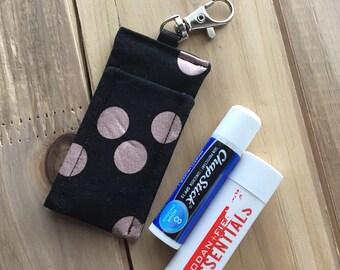 Chapstick Holder - Lip Balm Holder - Lipstick Holder - Chapstick Cozy - Lip Balm Cozy - Lipstick Cozy - Custom Chapstick Keychain Holder