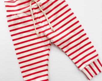 Bright Pink Stripe Leggings