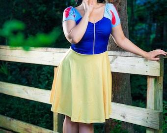 Snow White Dress, Snow White Bardot Cosplay Dress, Disney Bounding Dress, Snow White Disney Bound Dress, Snow White Costume, Plus Size Dress