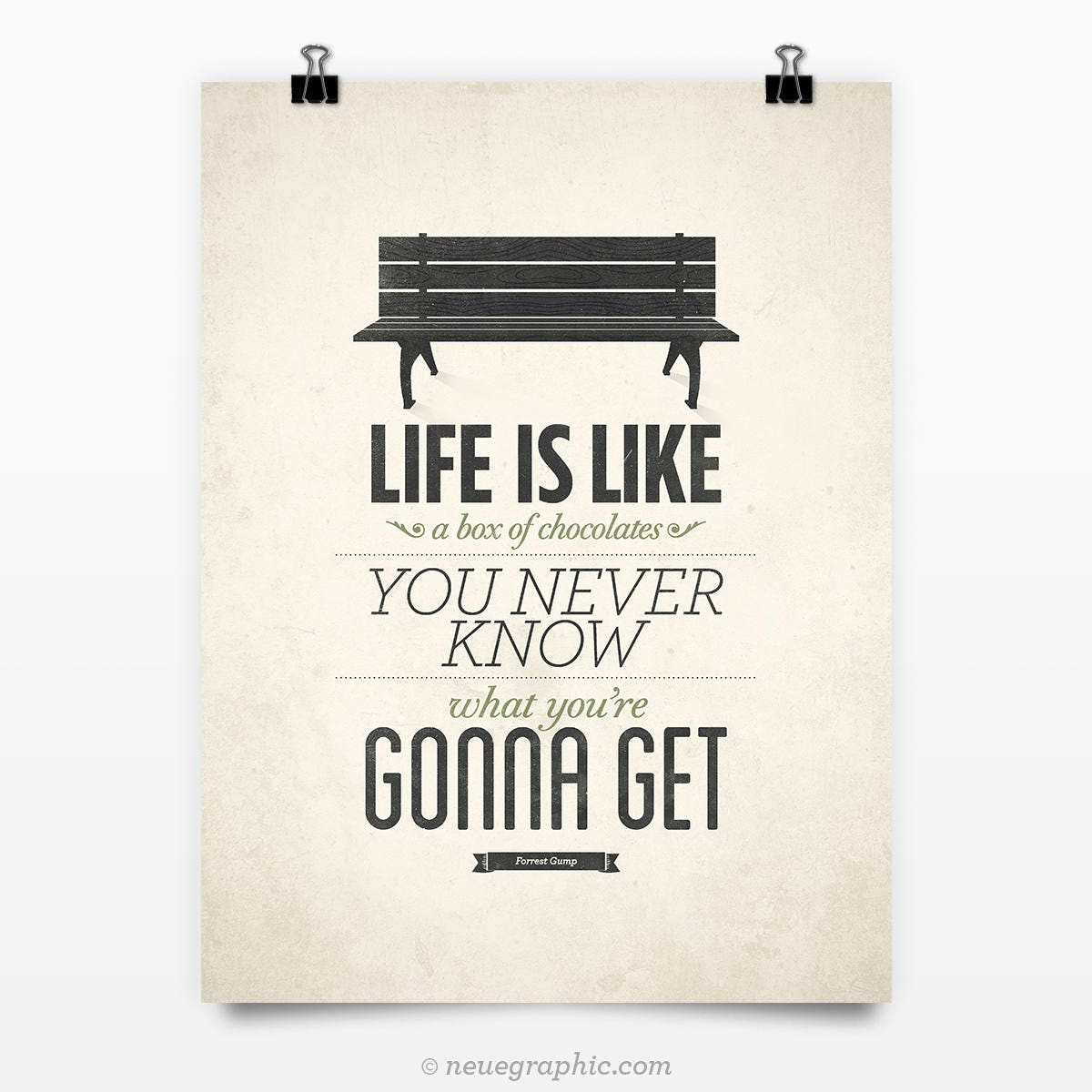 Poster Quotes About Life Forrest Gump Poster Life Is Like A Box Of Chocolates Rustic