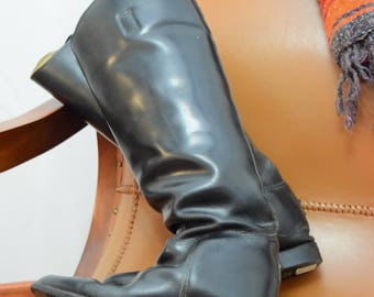 Vintage English Leather Riding Boots Decor