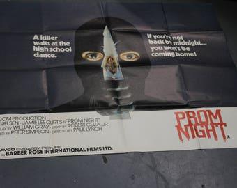 ORIGNAL prom night UK quad poster