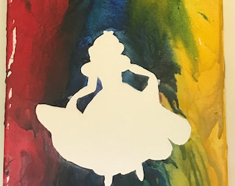 Melted Crayons Art- Snow White