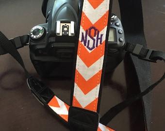 Monogrammed Chevron Camera Strap