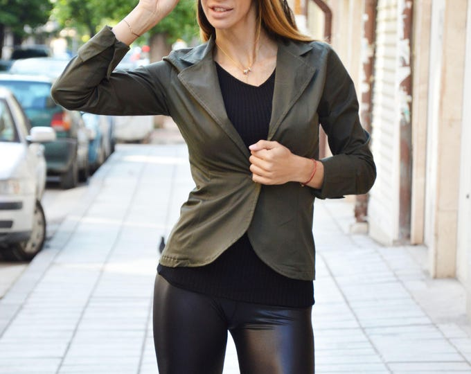 Woman New Military Blazer, Extravagant Jacket, Asymmetrical Buttoned Blazer, Elegant Jacket, Summer Coat by SSDfashion