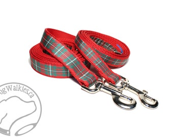 MacGregor Clan Tartan Leash // Matching Tartan Dog Leash in all widths // custom lengths // Plaid Leashes // Tartan Lead // Handmade
