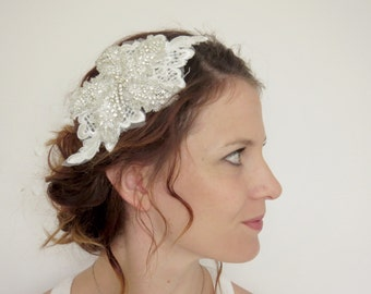 Wedding Hair piece, crystal hair piece, Bridal Comb, Bridal head piece, Crystal comb,  boho wedding hair piece, flower comb, vintage