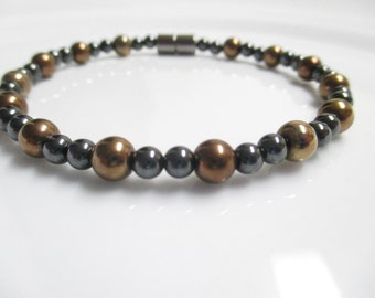 Magnetic Hematite Copper Anklet, Magnetic Jewelry, Anklet