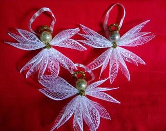 Mesh Angel Ornaments
