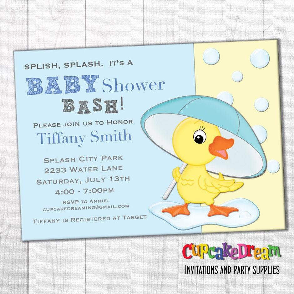 Boy Baby Shower Invitation Duck Baby Shower