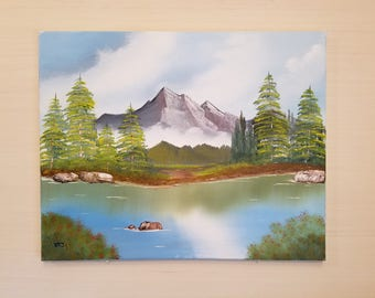 Mountain Art titled Lakeside Tranquility