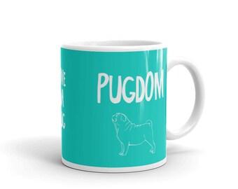 Pugdom Mug - Teal
