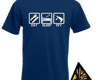 Eat Sleep Drill T-Shirt Joke Funny Tshirt Tee Shirt DIY