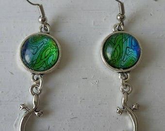 Salamander lizard earrings