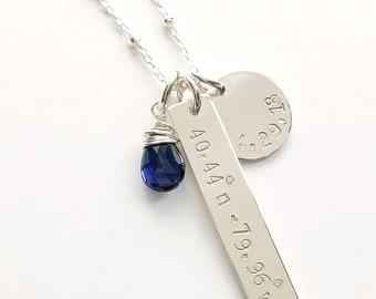 Coordinates & Date Necklace