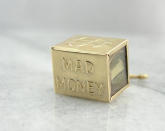 Fun Mad Money and Hammer Gold Charm or Pendant H6K7M2-N