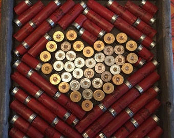 Shot Gun Shell Heart Wall Decor-sold out but new one coming soon