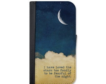 """Starry Night """"I Have Loved The Stars"""" Wallet Case Design For The iPhone 5/5s, 5c, 6/6s, 6/6s Plus, 7, 7 Plus, 8 or 8 Plus."""