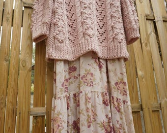 Hand knit wool sweater,Natural wool sweater,Boho sweater,Bohemian sweater,Hippie Sweater,Winter sweater,Chunky sweater,Cozy sweater