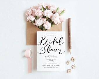 Classic Bridal Shower Invitation (Printable)