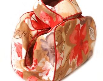 Cotton velvet handbag