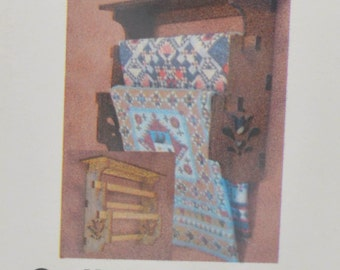 1:12 Dollhouse Miniature Quilt Wall Rack Display Kit/ Miniature Display DI-FS206