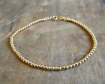 Gold Filled Beads Bracelet, Delicate Gold Filled Bracelet, Minimalist Bead Bracelet, Dainty 14k Gold Filled Bracelet, Gift For Her, #519