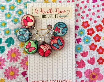 Color Butterfly Stitch marker set, beautiful butterflies stitch markers for knitting.