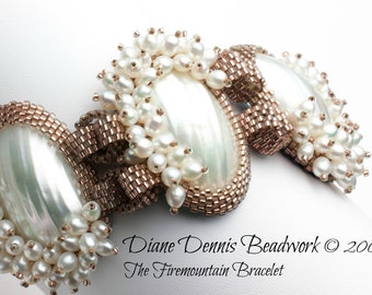 Digital Instructions/Tutorial for The Firemountain Bracelet available as an instant download.