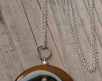 Vintage Jade pendant and sterling silver chain