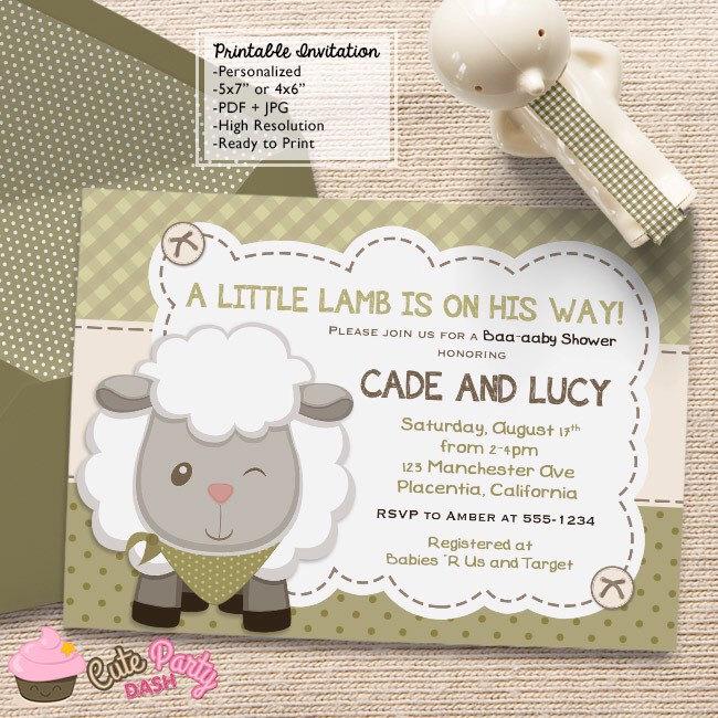 Boys little lamb baby shower invitations little sheep boys diy zoom filmwisefo Choice Image