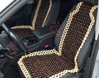 Beaded Car Seat Cover For Massager Pattern Wood Accessories Wooden Beads