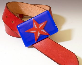 Fused Glass Nautical Star Buckle