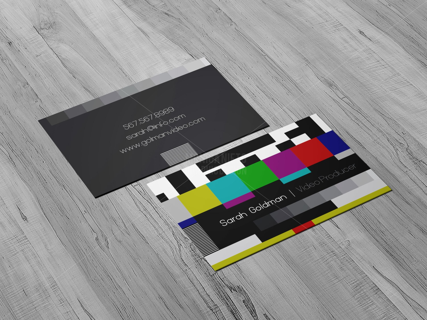 YouTube Video Producer Business Cards/ Social Media/ Animator/