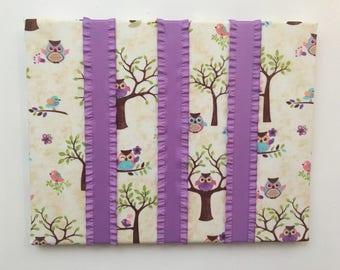 Owl kids hair bow holder girl nursery, toddler girl gifts, owl hair clip holder, girls hair accessory organizer