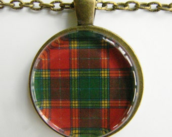 BUCHANAN Clan Scottish TARTAN Necklace -- Wedding Necklace, Bridesmaids, Hen Night, Family Plaid, Scotland, Friendship token