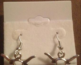 Longhorn earrings