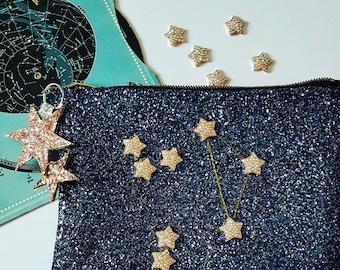 Clutch Bag Constellation Star Glitter Handbag Custom