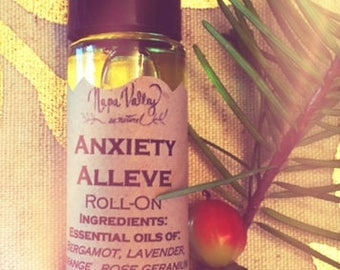 Anxiety Alleve Roll-On in 1/3oz roll-on glass bottle