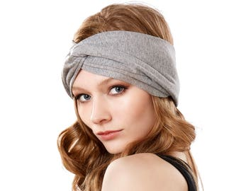 Yoga Workout Running Women's Headband Turban Headband Gray Ear Warmer Spring Fashion Spring Accessories Jogging Turban