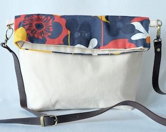 Foldover Bag - 'Flower Garden'
