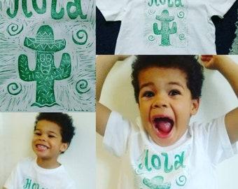 Hola Cactus Handmade T-shirt