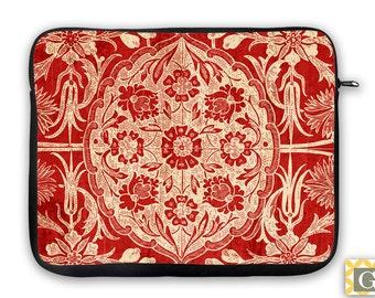 Red Antique Wallpaper iPad Case, Laptop Bag, Laptop Sleeve, Laptop Case, iPad Sleeve, MacBook Case, Tablet Case - Vintage Red II