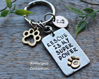 Rescue Key Chain, Animal Rescue, Animal Lover Gift, Gift for Animal Rescuer, Read Full Listing Details Before Purchasing